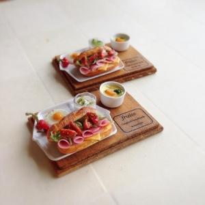 ミニトマトとハムのサンド1