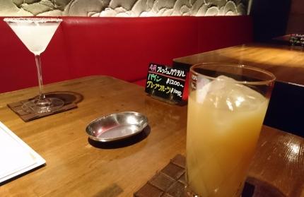 グレープフルーツジュースとカクテル