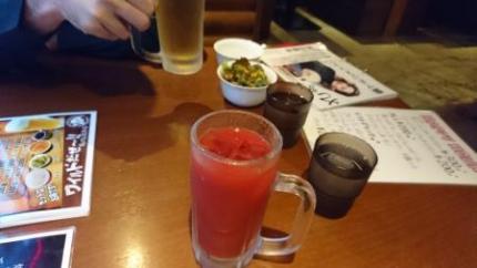 トマトジュースとビール
