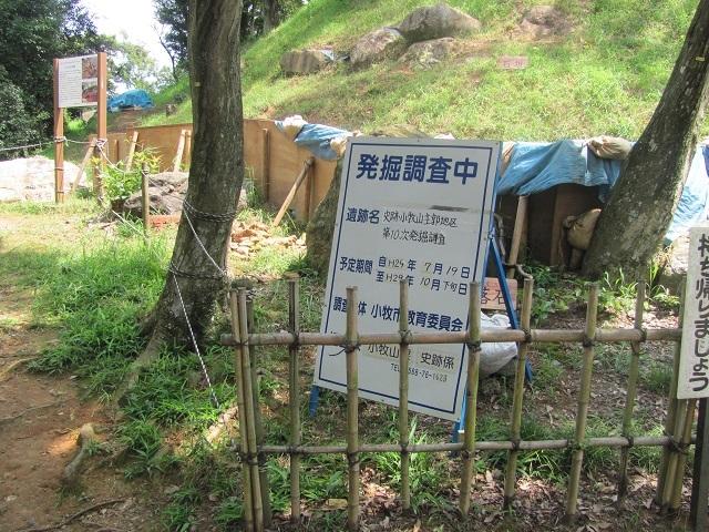 小牧山発掘調査2017.8.27H