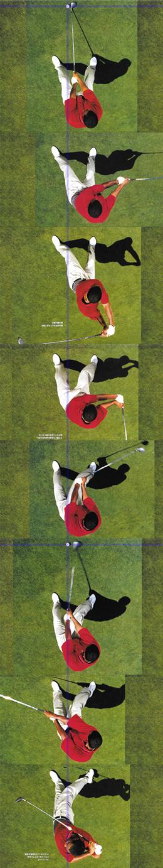 2001年頃のタイガーウッズのスイング連続写真