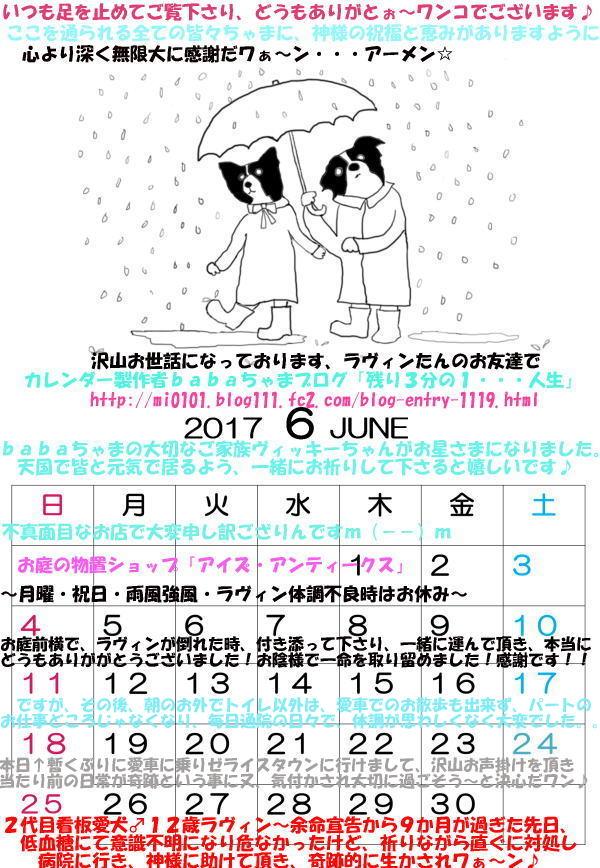 2017年6月babaちゃまカレンダーブログ用