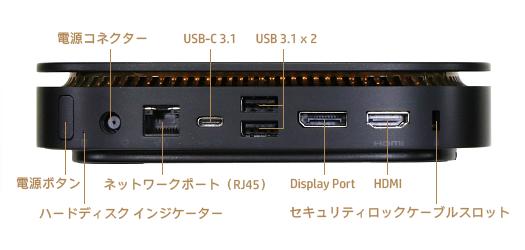 HP Elite Slice_背面_インターフェース_01a