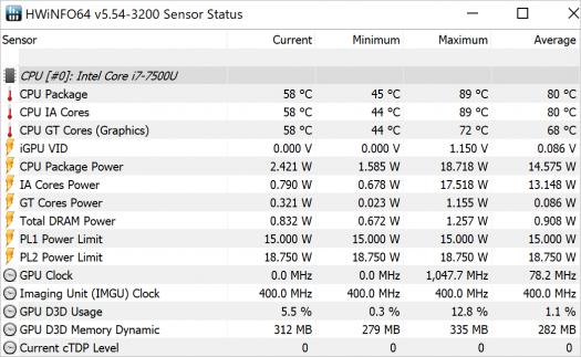 Spectre x360 13-ac008TU_CINEBENCH 15_CPU_temp26_b_core i7-7500Uの温度