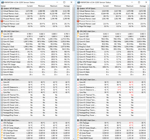 Spectre x2 12-c002TU_CINEBENCH R15_CPU_temp26_動作温度比較_01