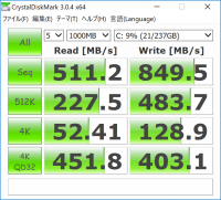 Surface Pro 2017_CrystalDiskMark_256GB SSD_01