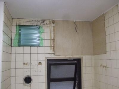 キッチン壁面下地造作