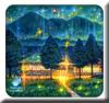 星降る山小屋の夜
