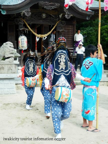 平沼ノ内諏訪神社 三匹獅子舞