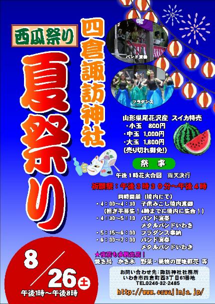 諏訪神社西瓜祭り