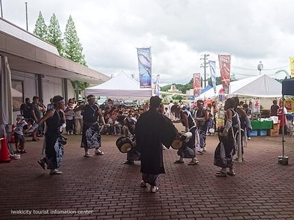 いわき湯本温泉連合青年有志会によるじゃんがら念仏踊1
