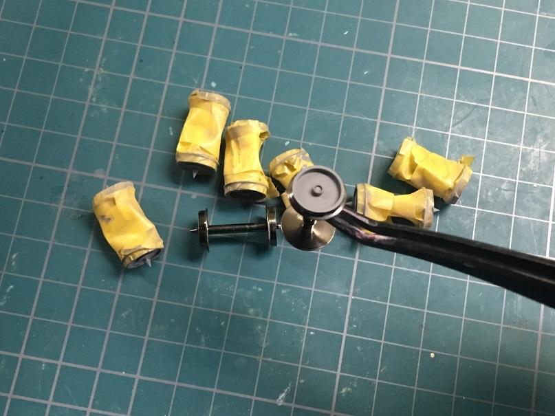 車輪塗装 HO 16番 ワールド工芸 キヤ97系 キット
