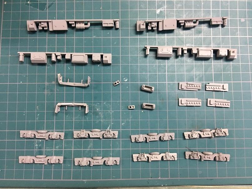 グレー塗装 HO 16番 ワールド工芸 キヤ97系 キット