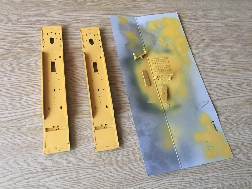 塗装黄色 HO 16番 ワールド工芸 キヤ97系 キット