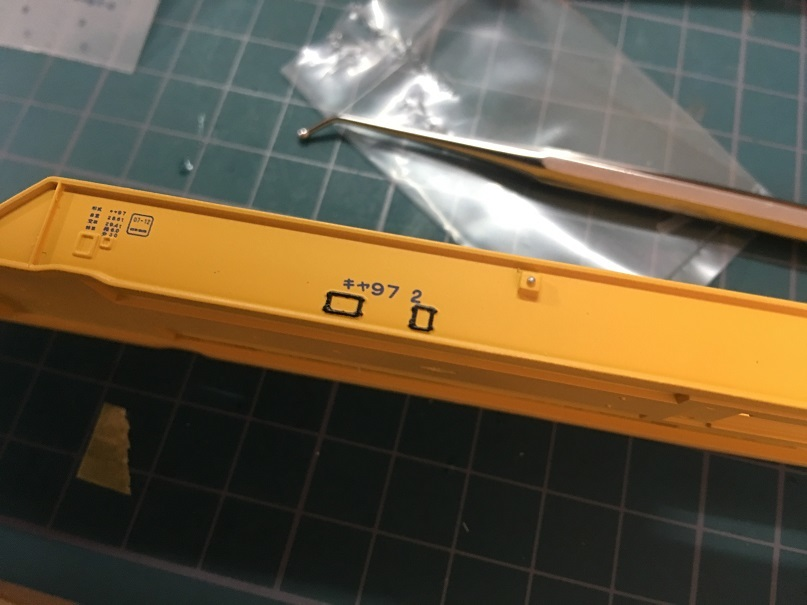 インレタ貼 HO 16番 ワールド工芸 キヤ97系 キット
