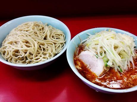 170702_中山駅前_小ラーメン_つけ麺_ヤサイニンニク