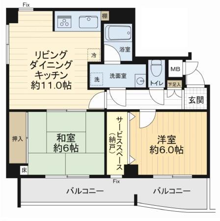 1750 インペリアル上桂 201号室 56.74 (イーアス不)