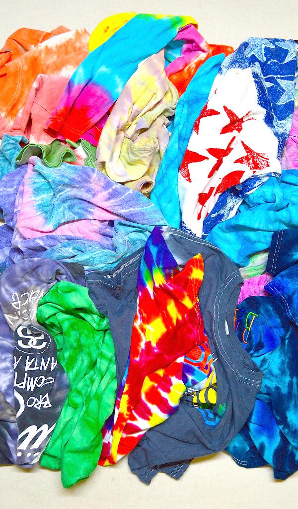Tie-dyeタイダイTシャツ画像コーデ@古着屋カチカチ01