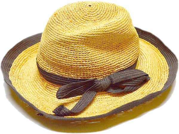 ストローハットStrawHat麦わら帽子画像リゾートコーデ@古着屋カチカチ03