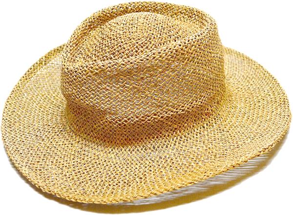 ストローハットStrawHat麦わら帽子画像リゾートコーデ@古着屋カチカチ04