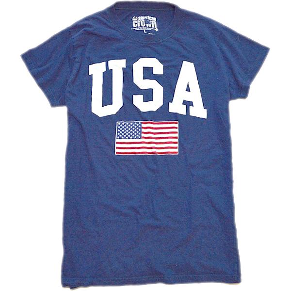 星条旗柄プリントTシャツ画像フラッグTコーデ@古着屋カチカチ01