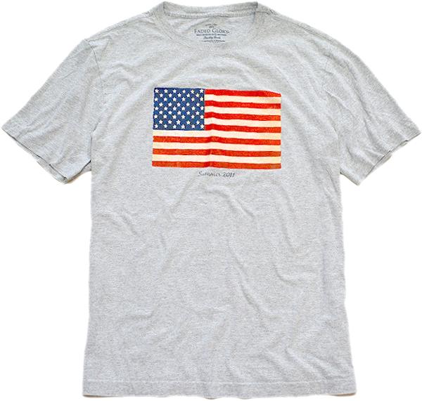 星条旗柄プリントTシャツ画像フラッグTコーデ@古着屋カチカチ04