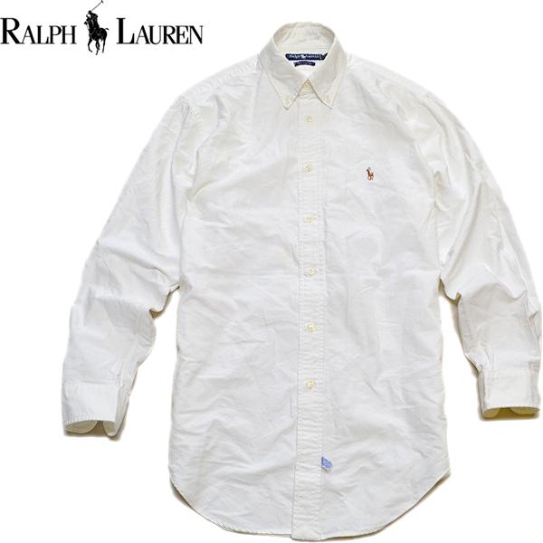 Ralph Laureラルフローレン長袖ボタンダウンシャツ画像メンズレディースコーデ@古着屋カチカチ01
