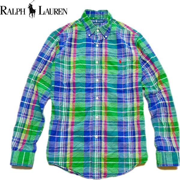 Ralph Laureラルフローレン長袖ボタンダウンシャツ画像メンズレディースコーデ@古着屋カチカチ05