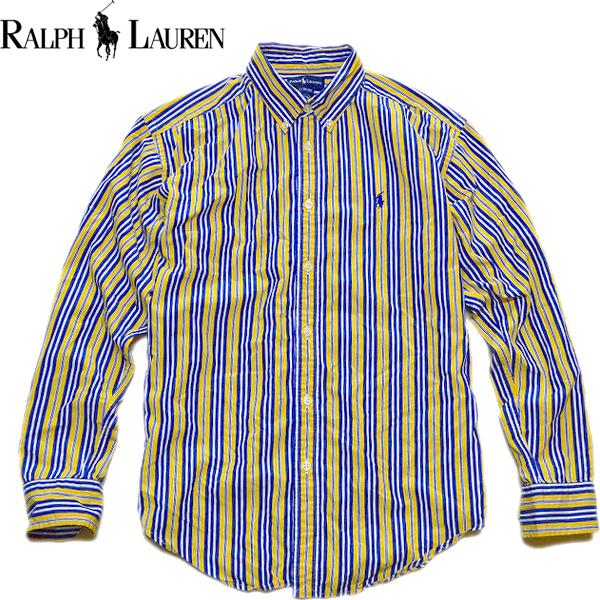 Ralph Laureラルフローレン長袖ボタンダウンシャツ画像メンズレディースコーデ@古着屋カチカチ08