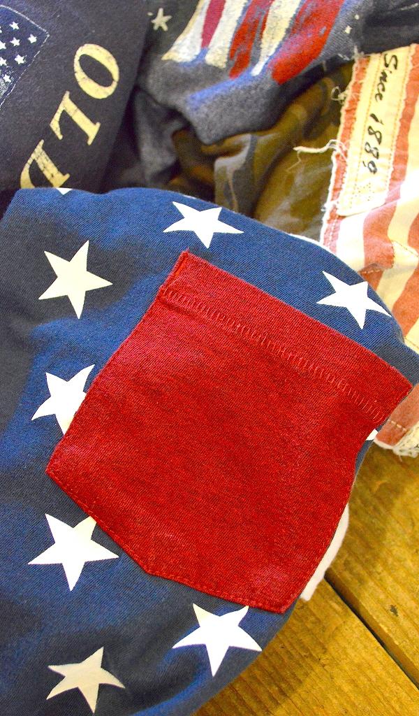 星条旗柄プリントTシャツ画像フラッグTコーデ@古着屋カチカチ