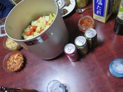 キャベツ大根トマト豚肉の重ね蒸し