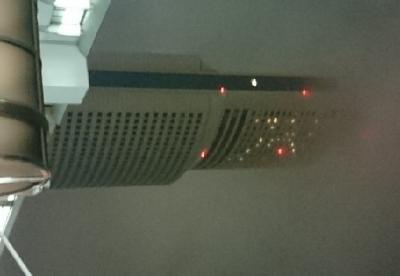 靄に霞むビル