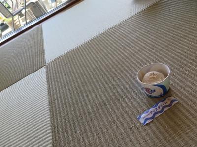 琉球畳とブルーシールアイス