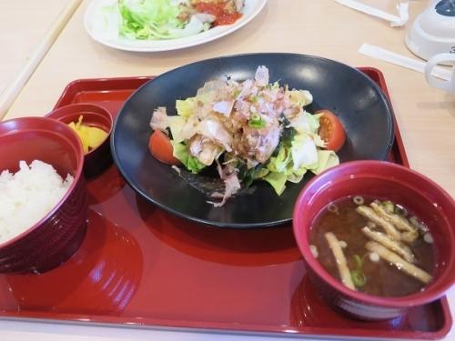 豚肉とキャベツのポン酢がけ定食