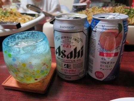 ビールと桃チューハイを混ぜて・・・