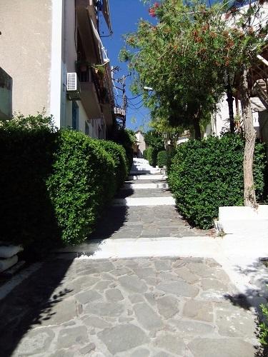 コローニ_住宅の間の階段道
