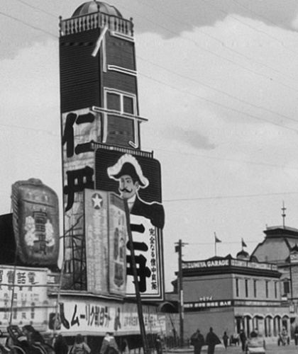 第95記事明治40年1907年大阪駅前の大広告塔