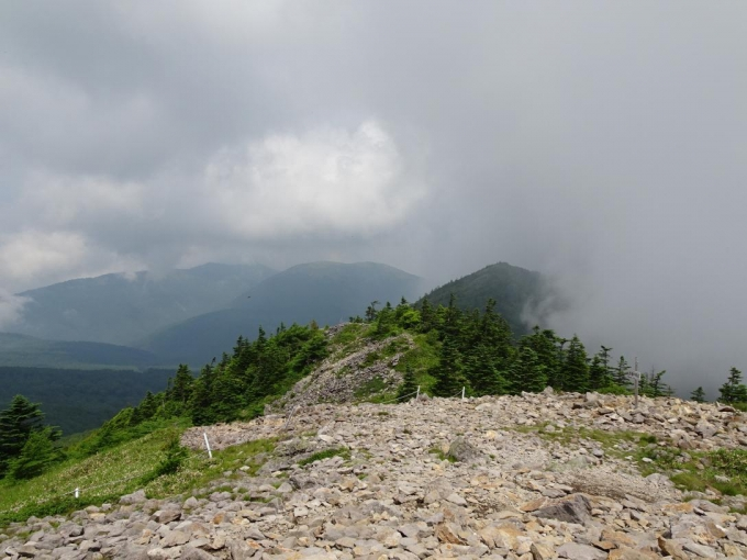 西篭ノ登山方向