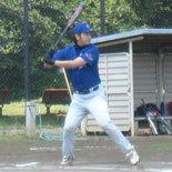 3回裏、鎌田が2点適時打を放つ