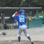 2回裏、伊藤永が適時三塁打を放つ