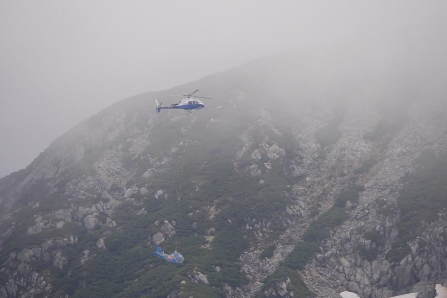 立山 事故機引き揚げ (2)