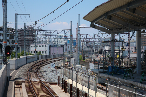 JR鴫野駅工事中11