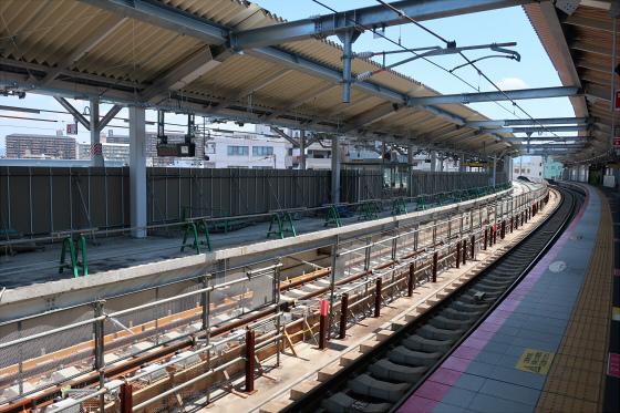 JR鴫野駅工事中12