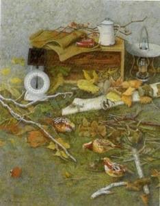光風会会員賞「枯れ葉の賦」