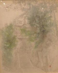 「スケッチ 寺院(2)」