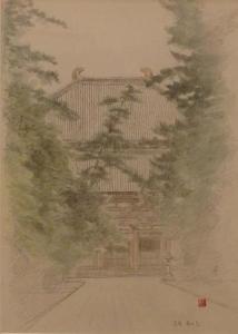 「スケッチ 寺院(1)」