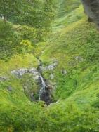 源頭部の滝