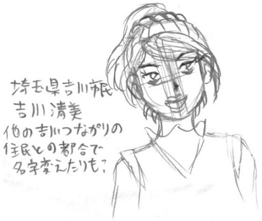 吉川清美のラフ画