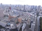 J05電通ビル46階より、朝日新聞・築地市場・月島