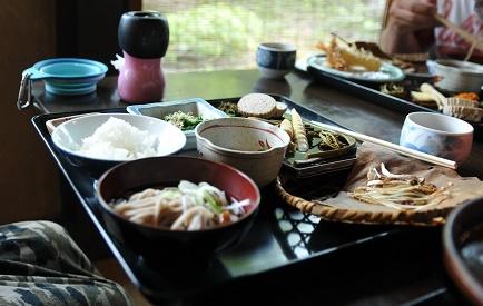 ほうば味噌付き 山菜定食(梅)